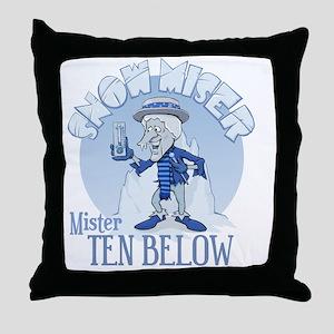 Snow Miser - Mister Ten Below Throw Pillow