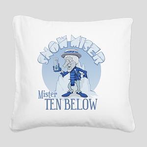 Snow Miser - Mister Ten Below Square Canvas Pillow