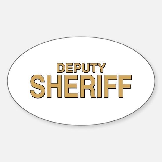 Deputy Sheriff Oval Decal