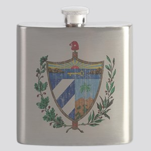 Cuba Coat of Arms Flask