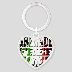 Grenade Free Zone Jersey Shore Heart Keychain
