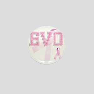EVO initials, Pink Ribbon, Mini Button