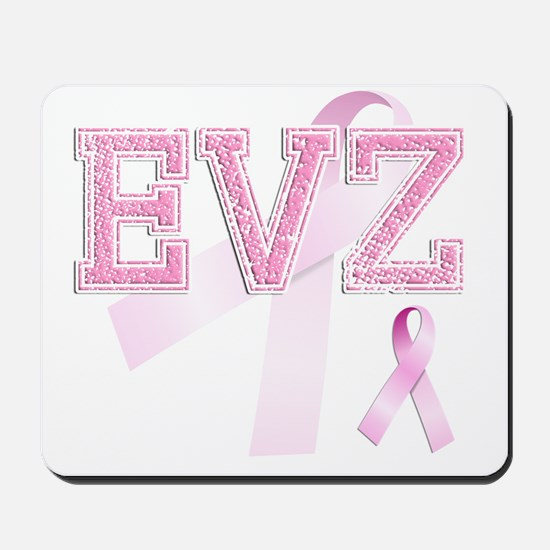 EVZ initials, Pink Ribbon, Mousepad