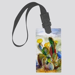 Bluebonnets and Cacti Large Luggage Tag