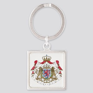 Luxembourg Coat of Arms Square Keychain