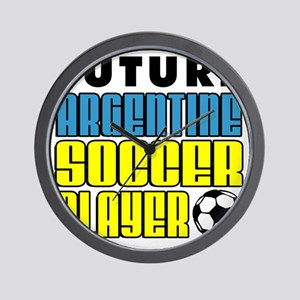 Future Argentine Soccer Player Wall Clock