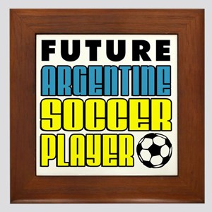Future Argentine Soccer Player Framed Tile