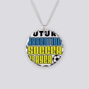 Future Argentine Soccer Play Necklace Circle Charm