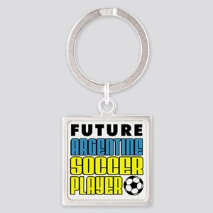 Future Argentine Soccer Player Square Keychain