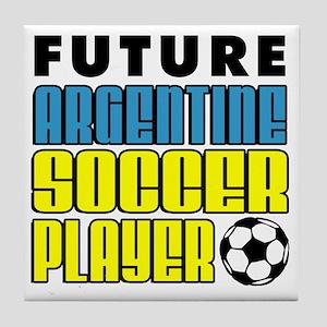 Future Argentine Soccer Player Tile Coaster