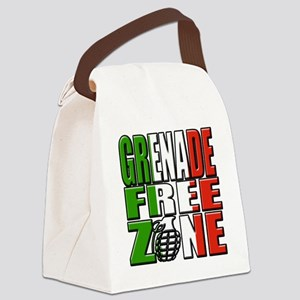 Grenade Free Zone Jersey Shore Canvas Lunch Bag