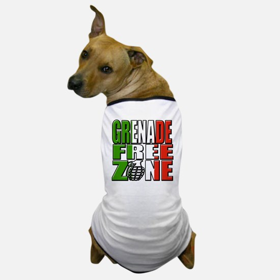 Grenade Free Zone Jersey Shore Dog T-Shirt