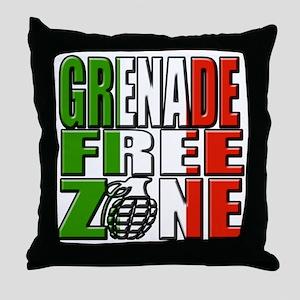 Grenade Free Zone Jersey Shore Throw Pillow