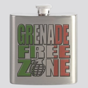 Grenade Free Zone Jersey Shore Flask