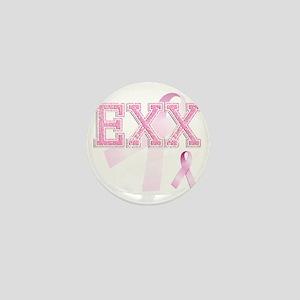 EXX initials, Pink Ribbon, Mini Button