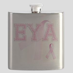 EYA initials, Pink Ribbon, Flask