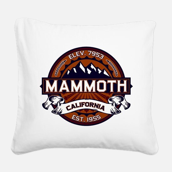 Mammoth Vibrant Square Canvas Pillow