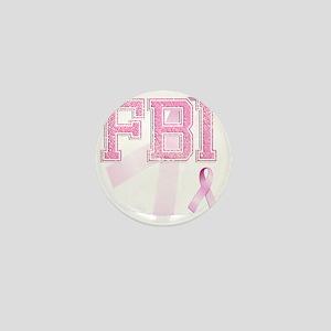 FBI initials, Pink Ribbon, Mini Button