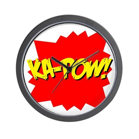 Ka-Pow! Wall Clock