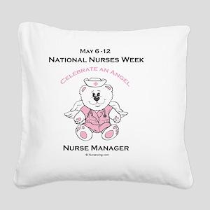Nurses Week Nurse Manager Square Canvas Pillow