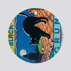IPad The Black Cat Round Ornament