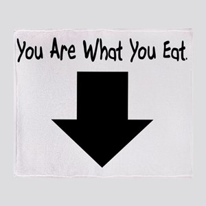 You Are What You Eat Throw Blanket