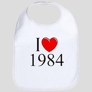 """""""I Love 1984"""" Bib"""