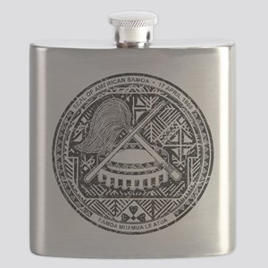American Samoa Coat of Arms cracle Flask