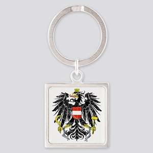 Austria Coat of Arms cracle Square Keychain