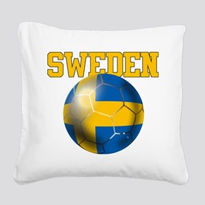 Sweden Football Square Canvas Pillow