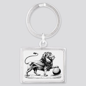 Lion of Judah Landscape Keychain