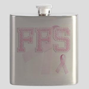 FFS initials, Pink Ribbon, Flask