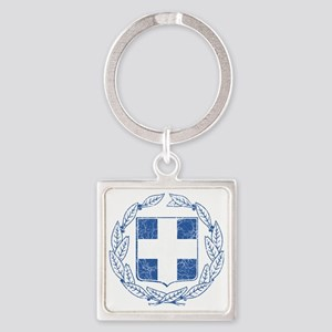 Greece Coat of Arms cracle Square Keychain
