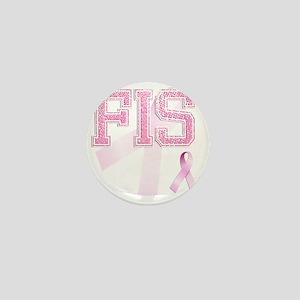 FIS initials, Pink Ribbon, Mini Button