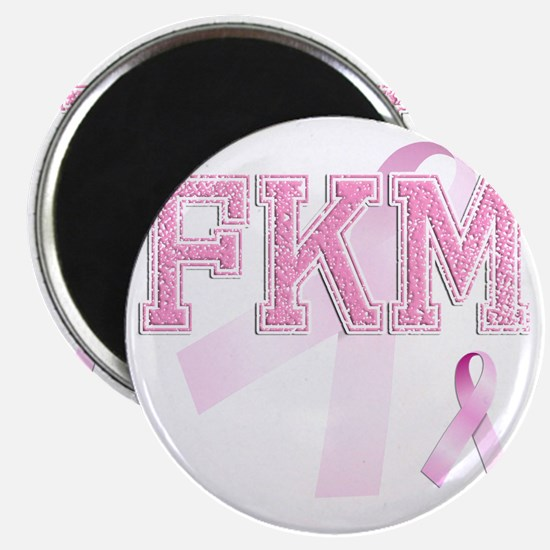 FKM initials, Pink Ribbon, Magnet