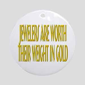 Jewelers Weight in Gold Ornament (Round)
