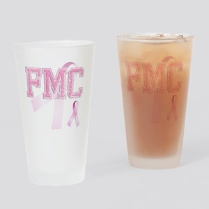 FMC initials, Pink Ribbon, Drinking Glass