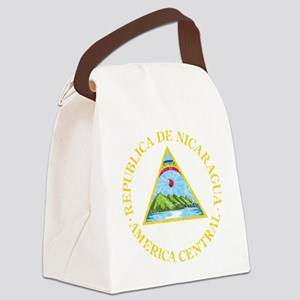 Nicaragua Coat of Arms cracle Canvas Lunch Bag