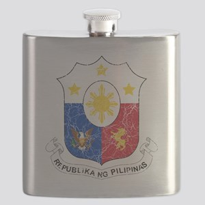 Philippines Coat of Arms cracle Flask