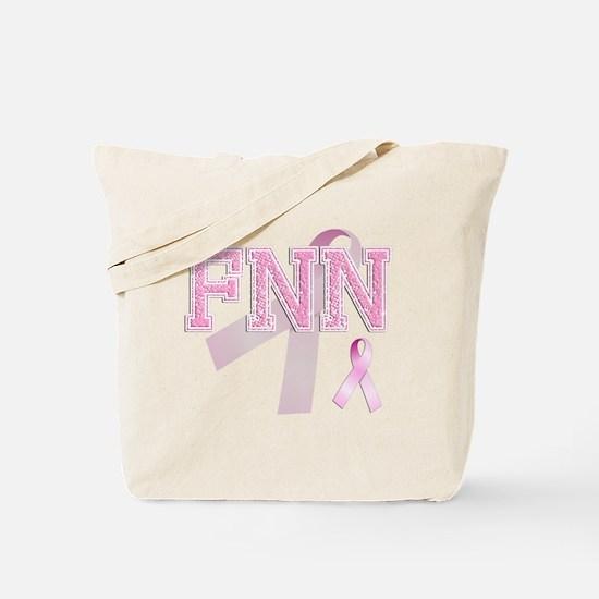 FNN initials, Pink Ribbon, Tote Bag