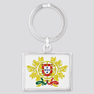 Portugal Coat of Arms cracle Landscape Keychain