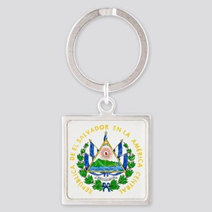 s El Salvador Coat of Arms cracle Square Keychain