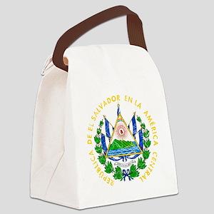 s El Salvador Coat of Arms cracle Canvas Lunch Bag