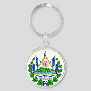 s El Salvador Coat of Arms cracle Round Keychain
