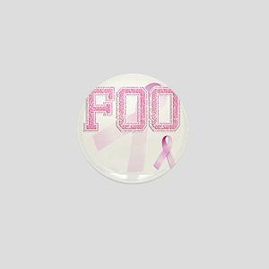 FOO initials, Pink Ribbon, Mini Button