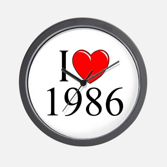 """I Love 1986"" Wall Clock"