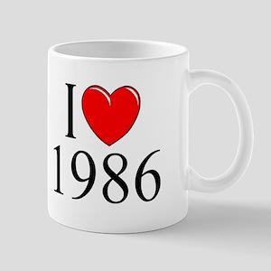 """""""I Love 1986"""" Mug"""