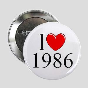 """""""I Love 1986"""" Button"""