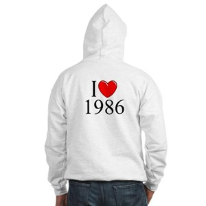 """I Love 1986"" Hooded Sweatshirt"