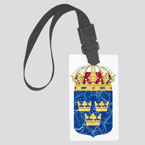 Sweden Lesser Coat of Arms cracl Large Luggage Tag